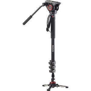 Manfrotto-MVMXPRO500-XPRO-Aluminum-Video-Monopod-with-Fluid-Video-Head