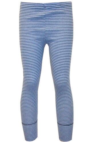2x 110//116 Kinder lange Unterhose Unterwäsche Leggins Geringelt blau-schwarz