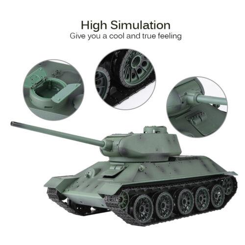 Heng Long 1//16 RC Panzer Schuss T-34 Kampfpanzer Tank Rauch Sound