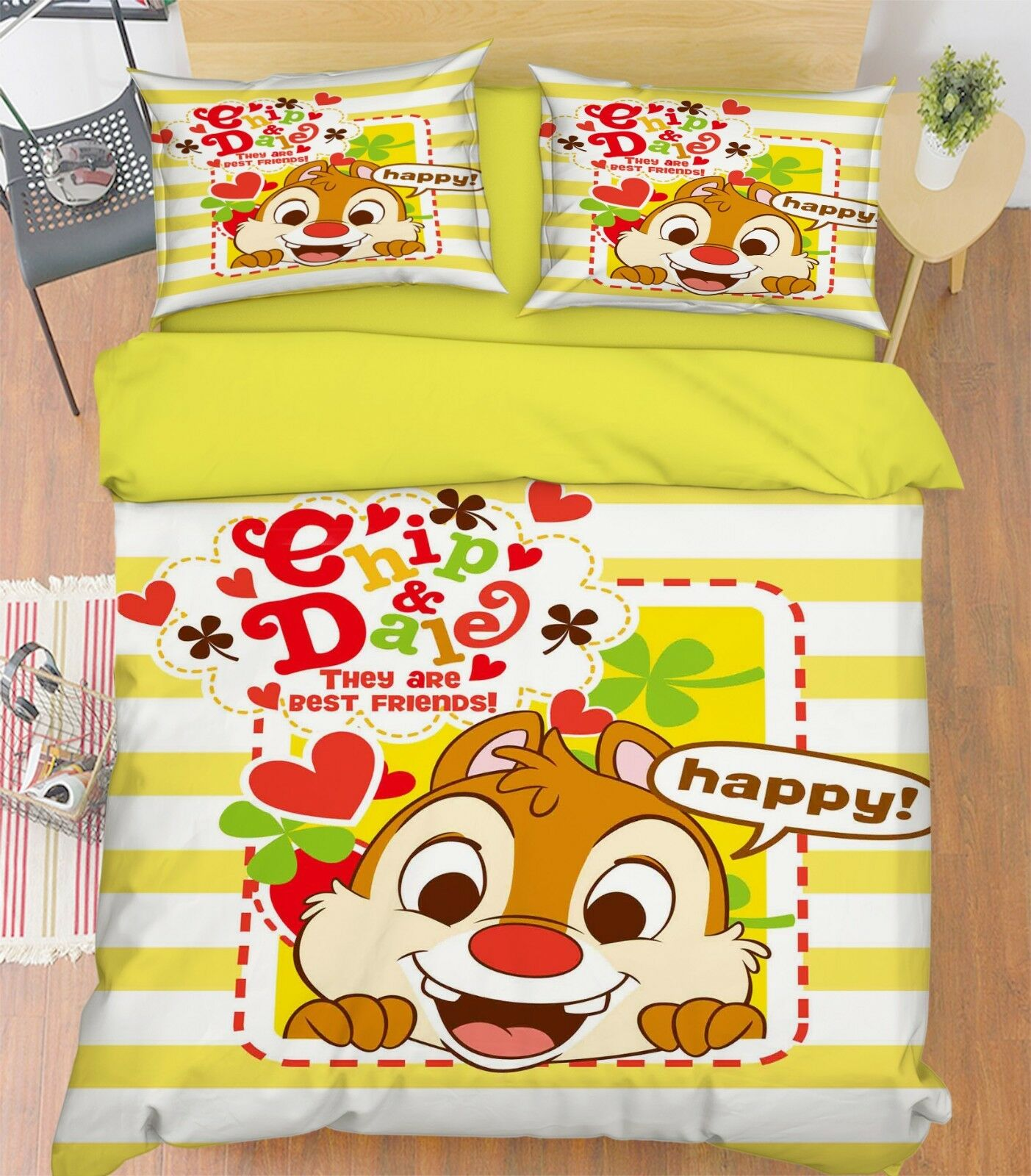 3D Cartoon Animal 688 Bed Pillowcases Quilt Duvet Cover Set Single Queen King CA