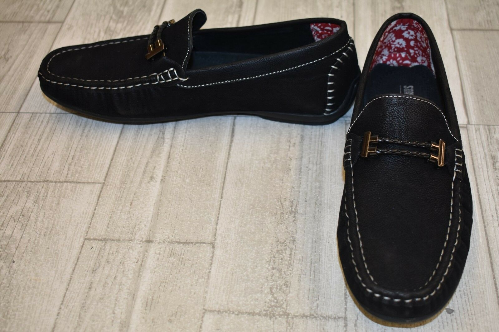 Stacy Adams Percy Loafer, Men's Size 8.5 M, Black