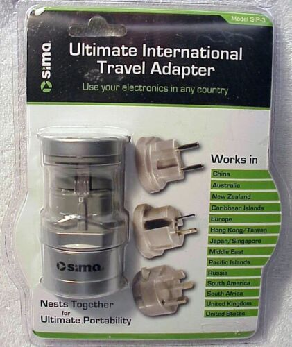 SIMA Ultimate International Travel Adapter SIP-3Use in Any CountryFrom USA