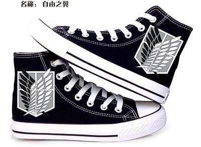 Shingeki no Kyojin Attack on Titan Sneaker Freizeitschuhe Sportschuhe Schnürer