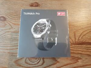 NEW Ticwatch Pro Bluetooth Smartwatch Layered Display NFC Payment - Silver