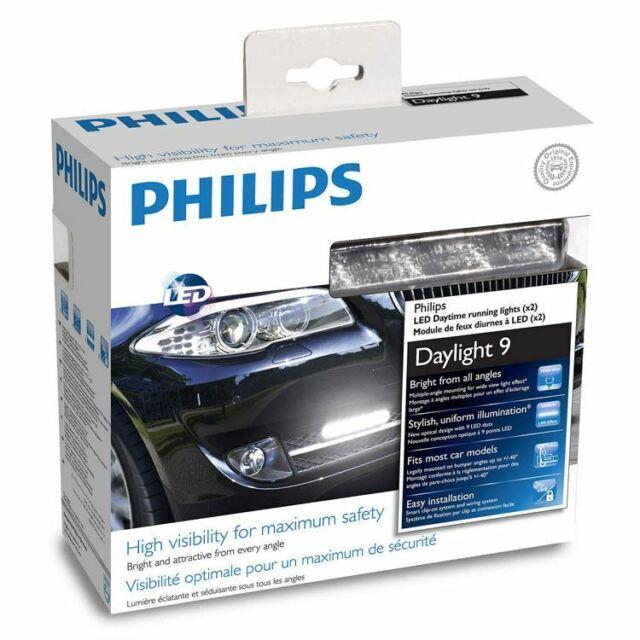 PHILIPS DayLight 9 LED Lumieres allumees toute la journee 12V 6W 12831WLEDX1 x2