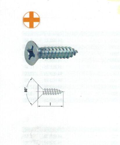Blechschrauben 2,9x16 Edelstahl Senkkopf Blechschrauben,