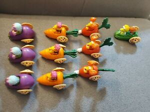 LOT-OF-10-FRAGGLE-ROCK-Vegetable-Cars-Toys-1988-McDonalds-Happy-Meal-Henson-Toys
