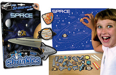 SPACE PLANETS BIG WALL CHART EMBELLISHMENTS SHRINKLES SHRINK ART BUMPER BOX SET