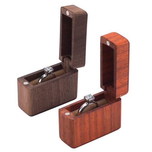 Verlobung Ring Box Handgefertigt Walnuss Holz Ring Box Rosenholz Hochzeit V O1N3