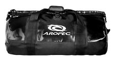 Aropec Inshore Waterproof Dry Duffle Bag Roll Top Black, 37.2 Litre Capacity