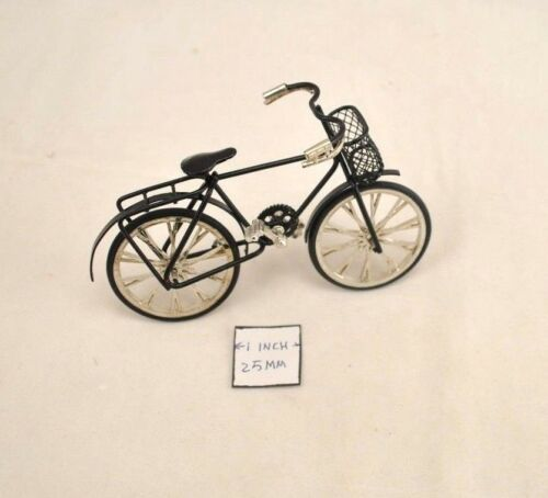 Bicycle Black  Metal 1//12 Scale G8140 Dollhouse Miniature