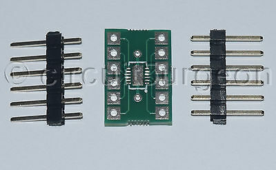 Surface mount DFN12 to DIL Adaptor Adapter Converter