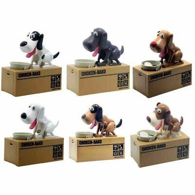 Piggy Bank Hungry Eating Dog Coin Money Saving Choken Puppy Robotic Machine Gift