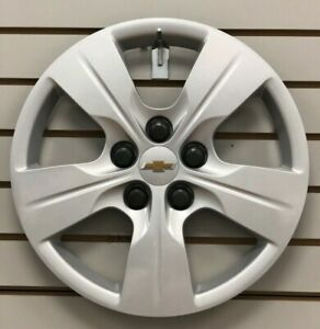 2016-2019-Chevy-CRUZE-15-034-5-spoke-Silver-Bolt-on-Hubcap-Wheelcover-13399300
