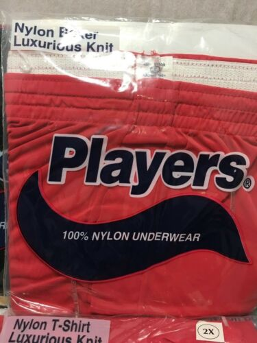 NEW IN POLY BAG MEN/'S NYLON T-SHIRT AND BOXER LUXURIOUS KNIT BLACK-NAVY-RED