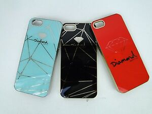 Diamond-Supply-co-High-Gloss-Metal-snap-on-case-for-Iphone-5-5s-ALL-3-PCS