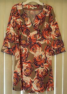 1501285b16ac2f NEW  128 BODEN VISCOSE MULTI-COLOR FLORAL PRINT TUNIC TOP DRESS ...