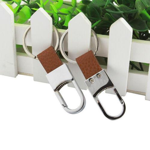 1Pc Metal Leather Men Car-styling Car Key Ring Cover Keychain Hot Sale