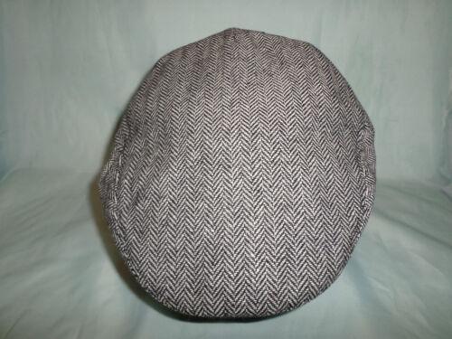 GREY OR BROWN CITY HERRINGBONE DEEP FIT NEWSBOY BAKERBOY PEAKY BLINDERS FLAT CAP