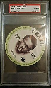 1976 CRANE DISCS WALTER PAYTON PSA MINT 9 ROOKIE CARD