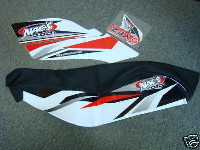 Nac/'s Racing atv graphics kit YFZ450 yfz red//wh nacs