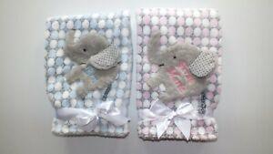 Kuschlige Unisex Babydecke Decke mit Elefant + Namen ...