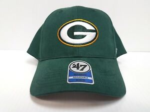 dc505ca9 Details about YOUTH KIDS Green Bay Packers 47 Brand Cap MVP Hook & Loop  Adjustable Hat NFL