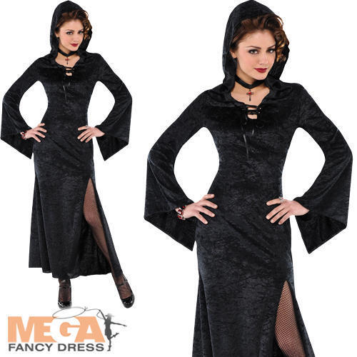 Enchantress Ladies Fancy Dress Halloween Witch Vampire Womens Adults Costume New
