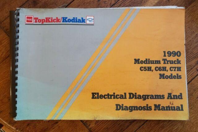 1990 Gmc Electrical Wiring Diagram Service Manual Top Kick