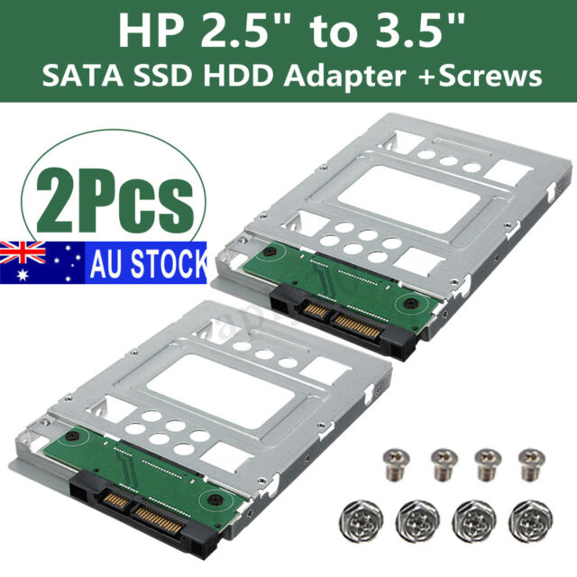 "2pcs 2.5"" SSD SAS to 3.5"" SATA Hard Disk Drive HDD Adapter CADDY TRAY Swap Plug"