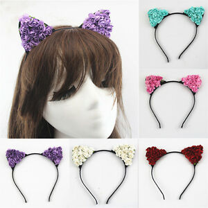 Women-Girls-Headband-Cute-Simple-Hair-Band-Party-Gift-Costume-Cat-Ears-New