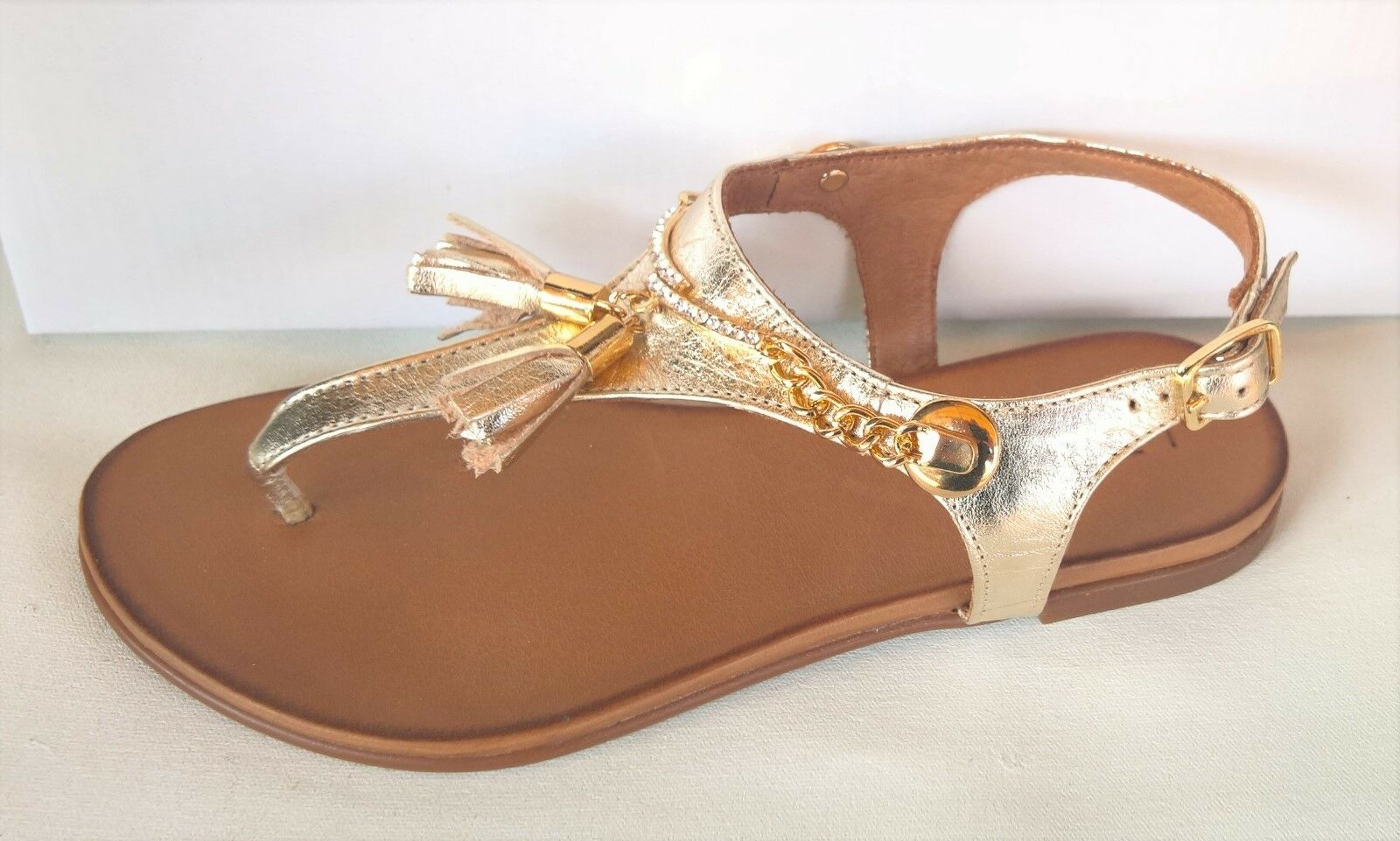 Le Sansa by CC Resorts shoes - Comfort leather flat thong Bling Sandals - Lane
