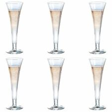 a282b33d8b7 6x Champagne Glasses Modern Glass Flutes Prosecco Sparkling Wine ...
