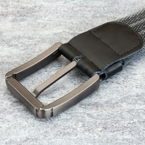 NEU Segeltuch Gürtel Herren Damen Jeansgürtel Metallschnalle Belt 3,8 cm Breit