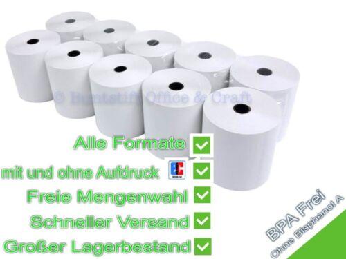 Menge frei wählbar Thermorollen Kassenrollen BPA-frei Alle Formate u