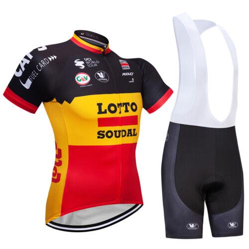 Men Road Bike Clothing Short Sleeve Jersey Bibs Shorts Kits Riding Outfits Pants