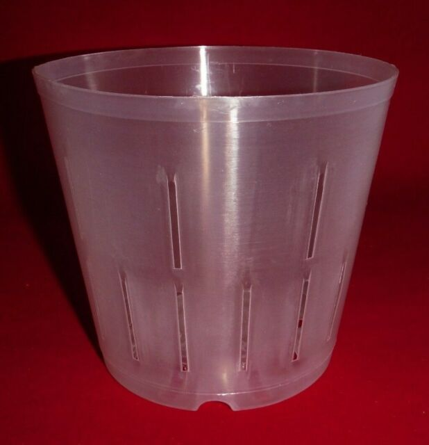 2 5CLS popular 5 inch clear plastic orchid pot slots strong flexible