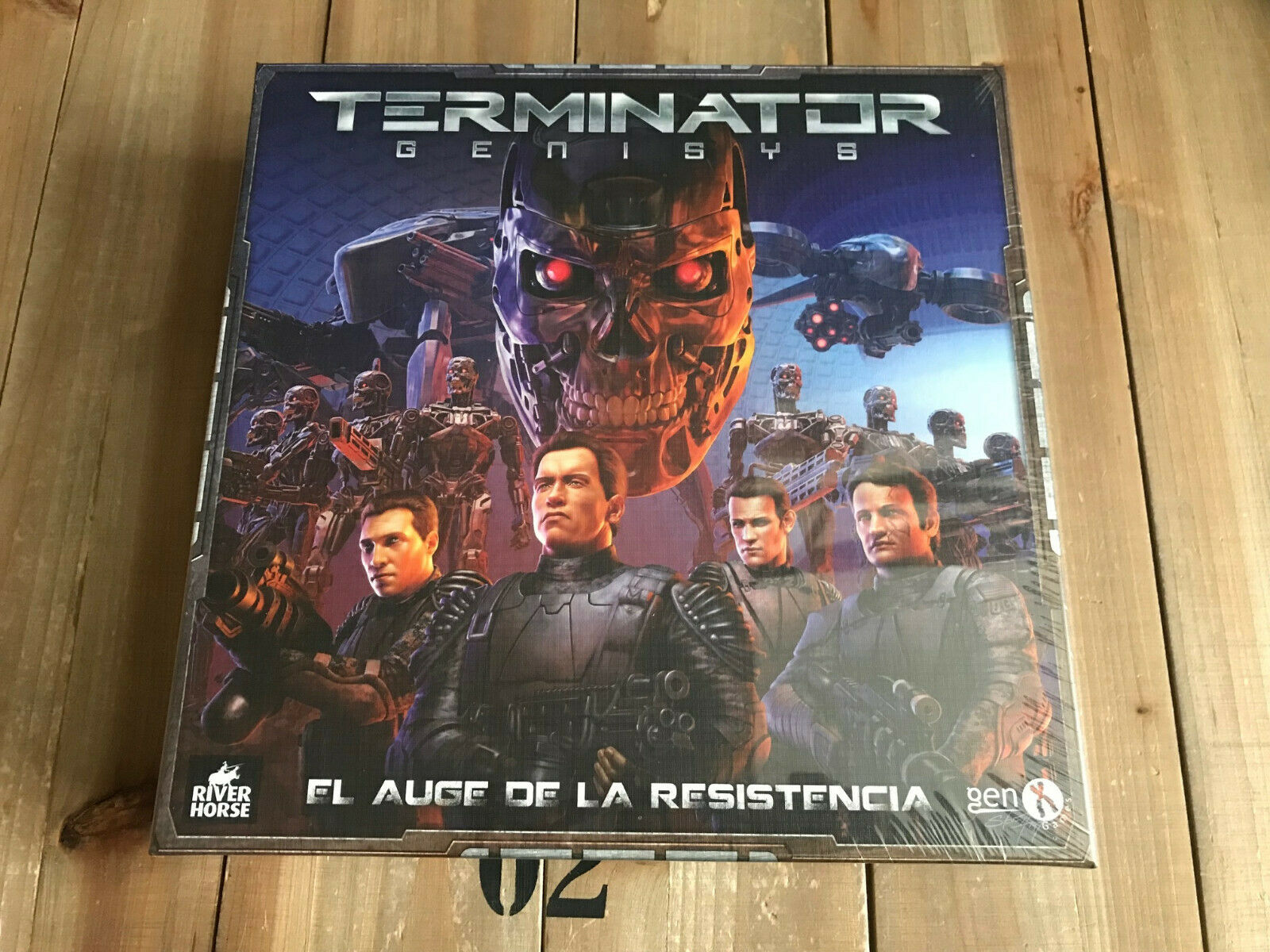 Game Table Terminator Genisys - Box Basic - Gen-x Games Ed. Spanish