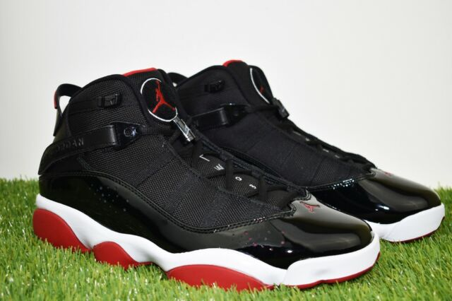 sports shoes b2d5c 85971 New Men's Air Jordan 6 Rings Multi Sizes BRED Shoes Black / Red 322992-062