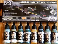 AK Interactive WWII IJN Aircraft Colours Acrylic Paint Set For Models