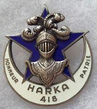 insigne Commando AFN Algérie HARKA 418 ORIGINAL Drago paris FRENCH BADGE