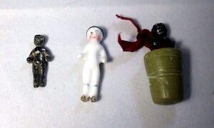 3-Tiny-MOLLY-Kewpie-Doll-WAXER-PORCELAIN-Original-Antique-c1800-039-s