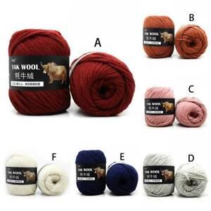 Sale-500g-Natural-Crochet-woven-yak-wool-cashmere-Hand-Knitting-Yarn-Multi-Color