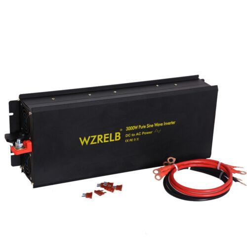 3000W Pure Sine Wave Inverter 12V//24V DC to 120V//220V//240V AC Car Power Inverter