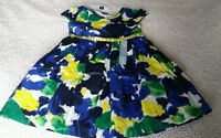 Baby Gap Outlet Blue Yellow Green Spring Dress 18-24 Mo