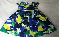 Baby Gap Outlet Blue Yellow Green Spring Dress 4 4t