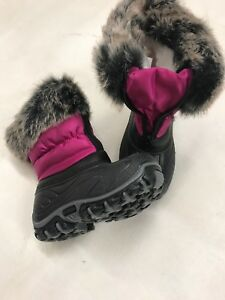 girls black winter boots new infant size 10.