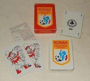 Jeu De 54 Cartes Kodak Fournisseur Officiel De L Equipe De France De Football Ebay