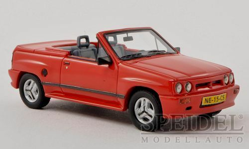 Wonderful modelcar OPEL CORSA IRMSCHER SPIDER i120 i120 i120 1985 - red -  1 43 - ltd.Ed. f04f94
