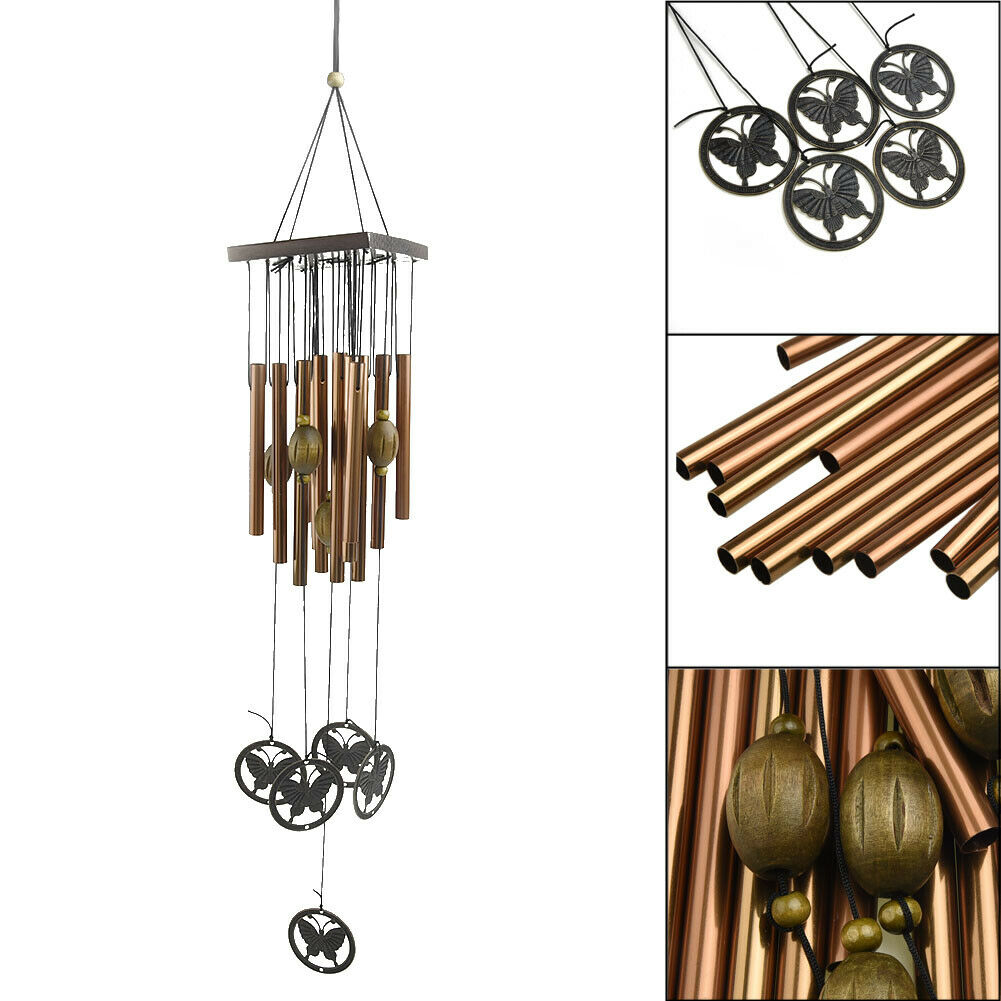National Copper Bell Mobile Wind Chime Home Yard Garden Outdoor Living Decor OQ